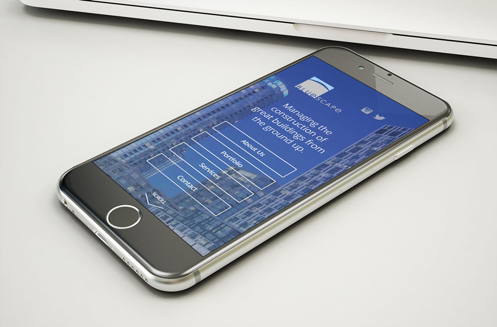 BLUESCAPE - mobile website design
