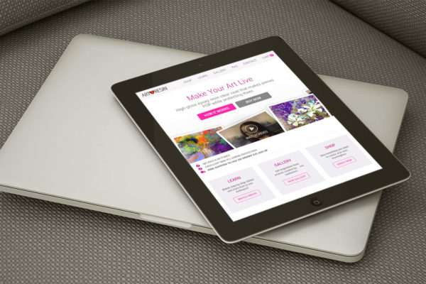 ArtResin - Tablet Website Design