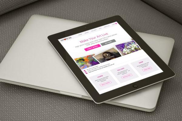 ArtResin - Tablet Website Design