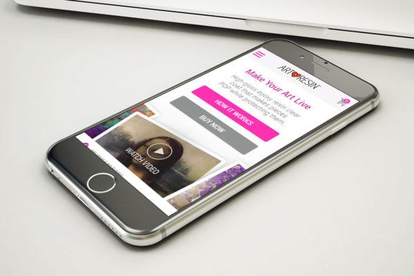 ArtResin - Mobile Shopify Website Design