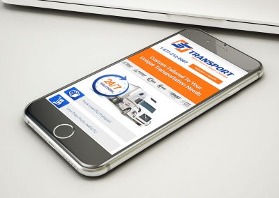 ET Transport - Mobile Website Design