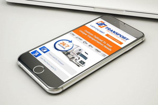 ET Transport - Mobile Website Design