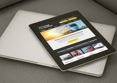 Chargo Truckload - Tablet Website Layout